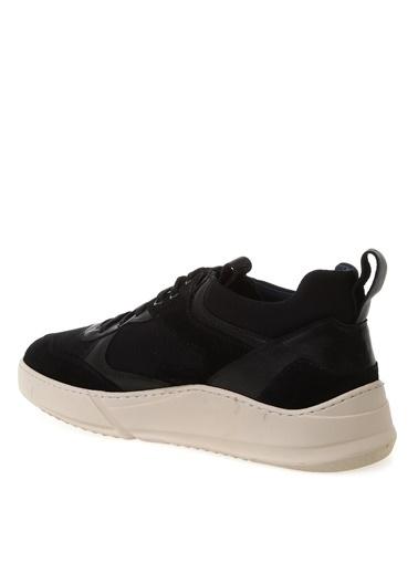 Fabrika Fabrika Lexsos 3.5 Cm Topuk File Detaylı Deri Unisex Sneakers Siyah